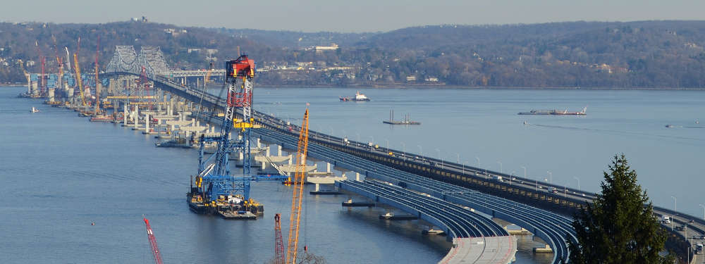 Construction began on all eight concrete towers in the late summer of 2015 following the completion of the main span pile caps.