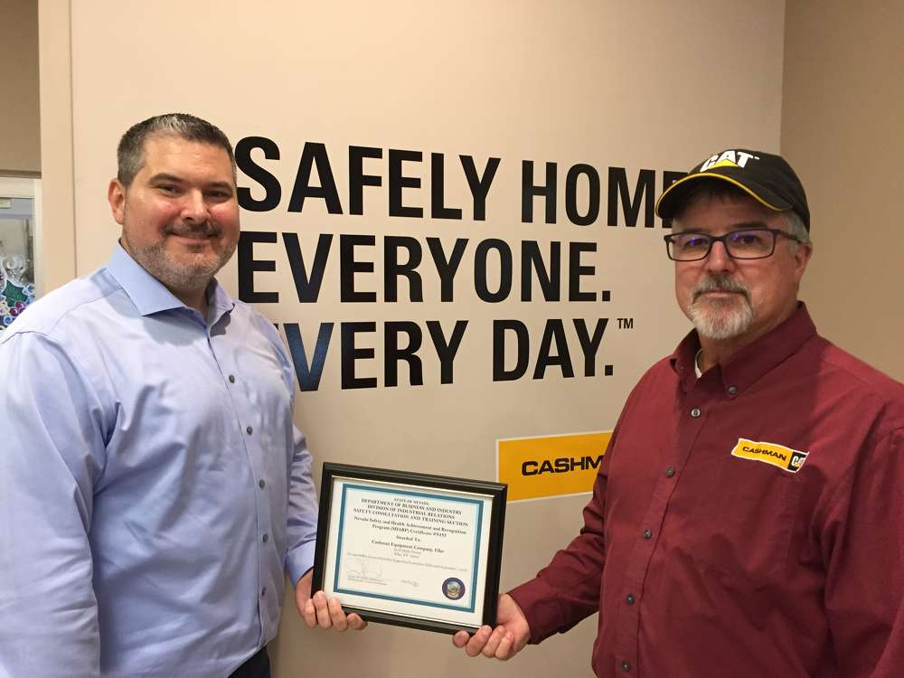 Cashman Equipment's Chris Calleri (L), safety manager, and Dick Stewart, Elko safety specialist. (Cashman Equipment photo)