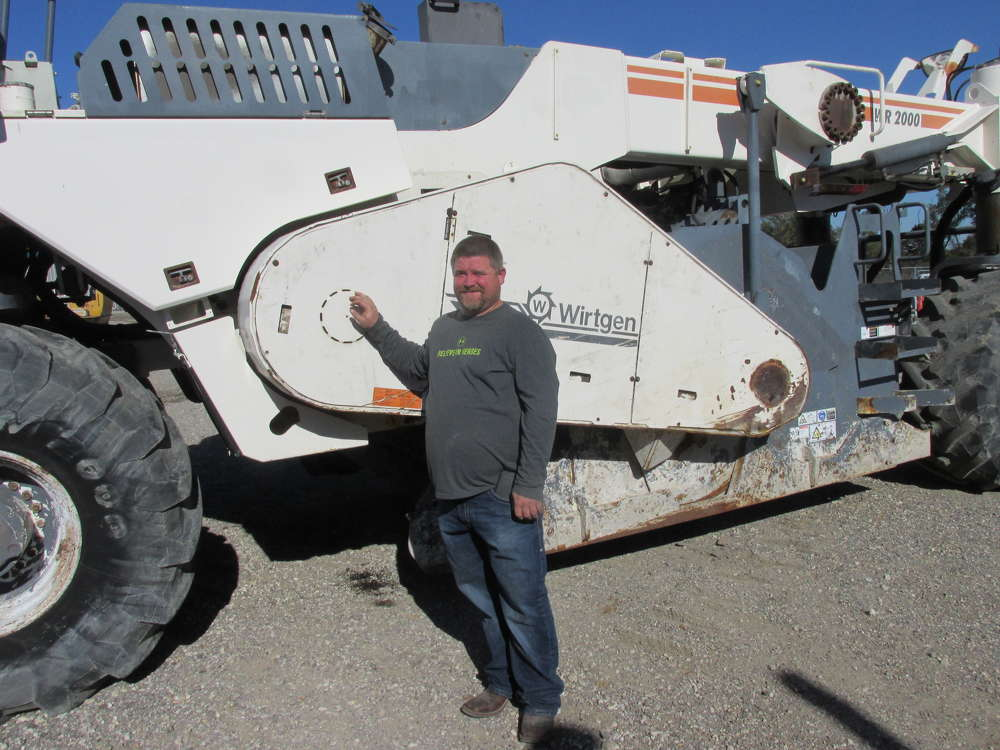 John Floyd III of Little John's Excavation in Avery, Texas, plans to bid on this Wirtgen WR 2000.