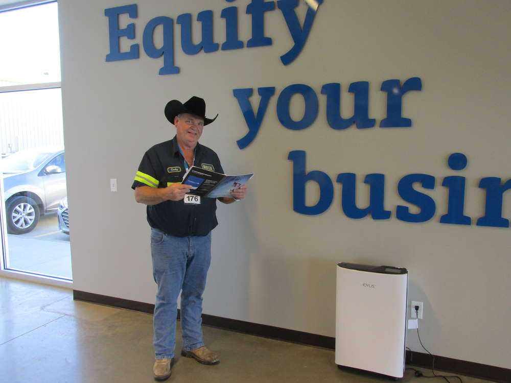 CEG caught Corky Underwood of Bayonet Breaker and RECS Rental Equipment in Prosper, Texas, at the perfect moment studying the sales brochure.