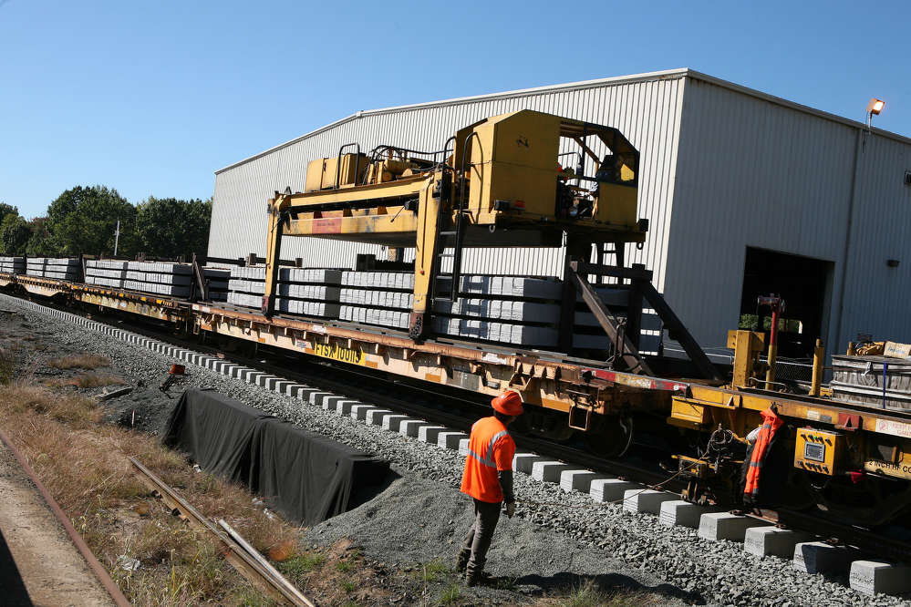 The NHHS rail program is replacing the second track. (Connecticut Department of Transportation photo)