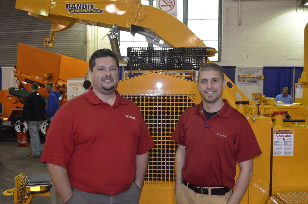 Representatives of Bandit Brush Chippers discuss the latest innovations in organic material processing.