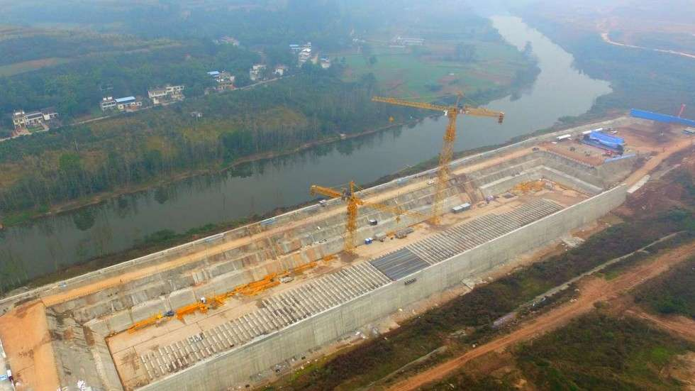 The life-size Titanic replica is slated for completion in 2017. (China News Service photo)