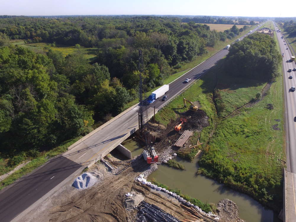 Crews from Milestone Contractors L.P. are making steady progress on the highway northeast of Indianapolis in Hamilton and Madison counties.