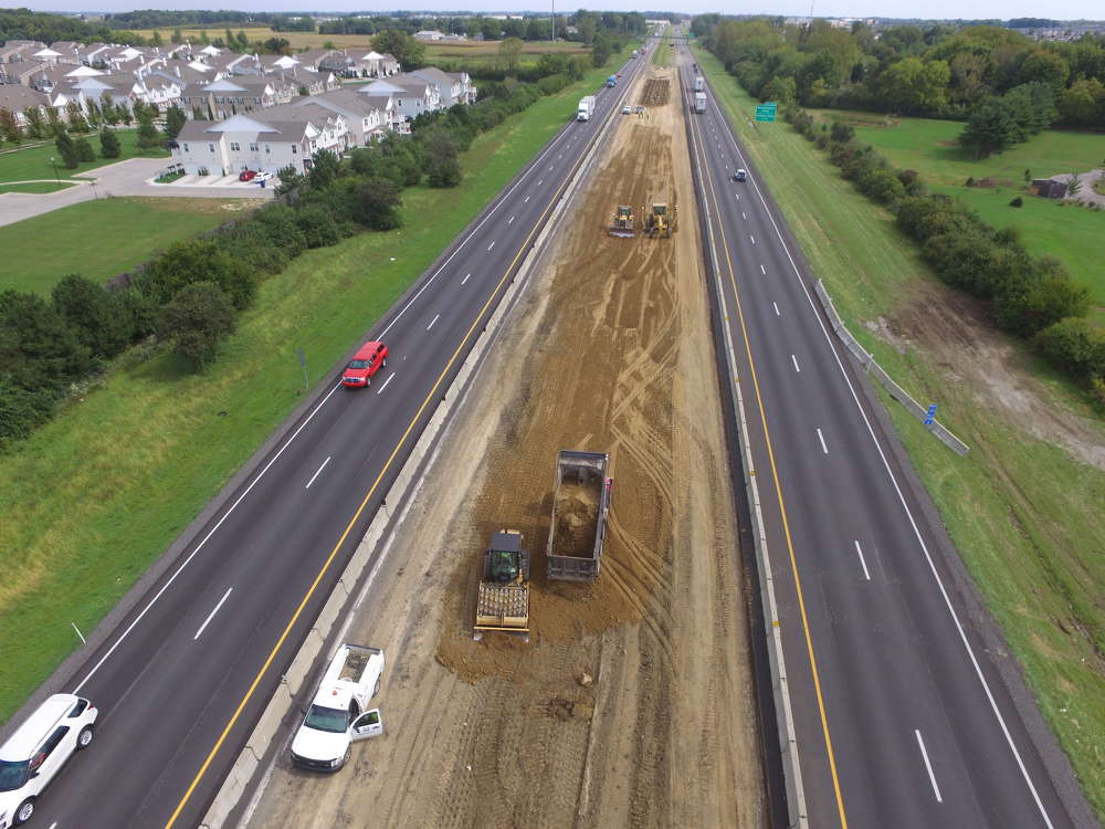 The design-build project, which broke ground last April, is being financed by INDOT and the Indiana Finance Authority.