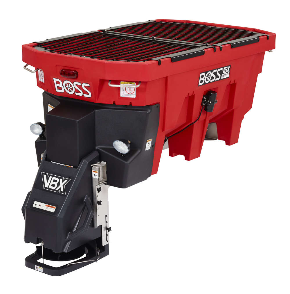 With a 1.5-cu.-yd. (1.1 cu m) capacity, the Boss VBX 6500 is built with a stainless  steel drive train and weatherproof components for reduced maintenance and longer life.