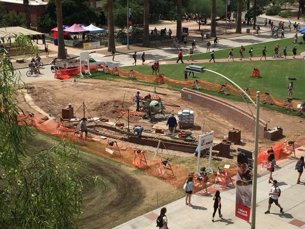 One of the primary concerns in creating the memorial was ensuring that it would not pose a hazard on the very popular campus mall.