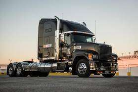 Mack provided NASCAR a fleet of 10 custom-spec'd Mack® Pinnacle™ axle back and axle forward models to transport critical equipment and technology between races.