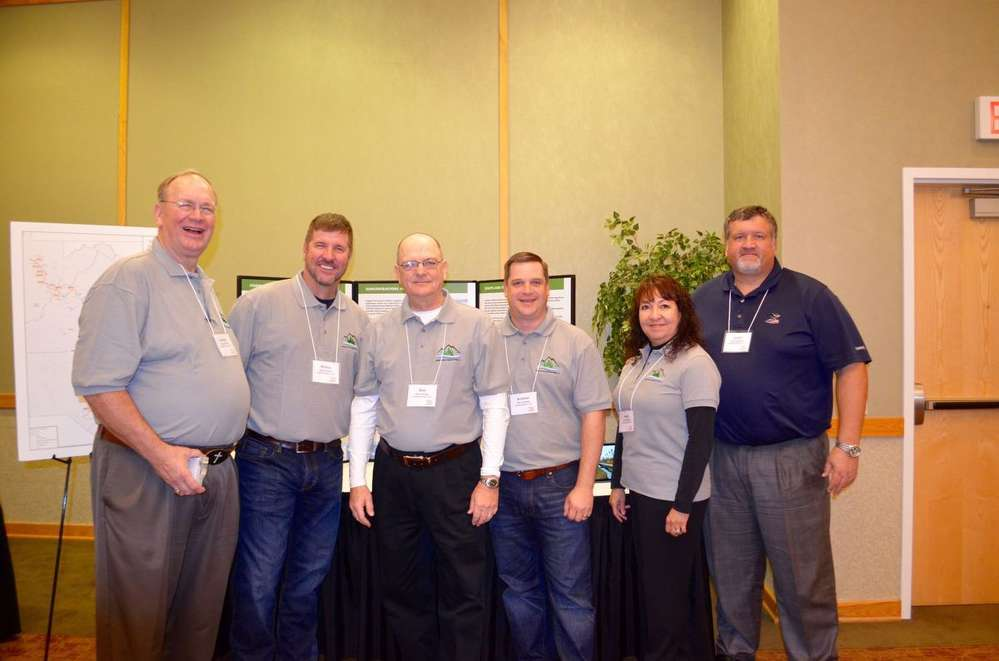 Representatives from each of the four construction companies that comprise Spring Ridge Constructors were present for the expo.