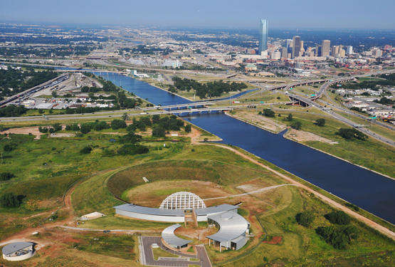 Oklahoma has spent more than $90 million since 2006 to create a site near the Oklahoma River to showcase the state's American Indian heritage.