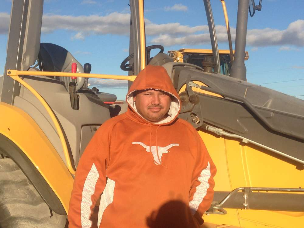 Felix Rubio of FR Construction in El Paso, Texas, is here to bid on this Volvo BL60B backhoe loader.