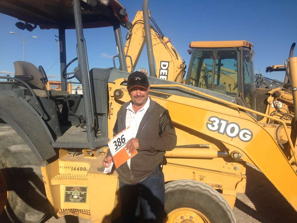 California contractor Victor Bermudez is looking for compaction equipment and a backhoe loader. The Deere 310G loader has his interest.