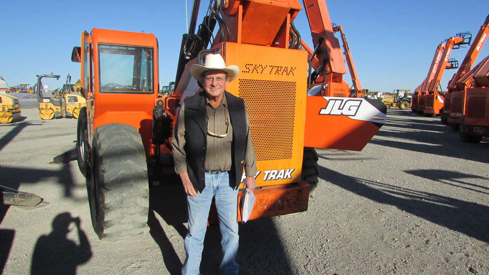 Doug Peterson, Peterson Concrete Co. in Little Rock, Ark., has a definite interest in this JLG – Sky Trak.