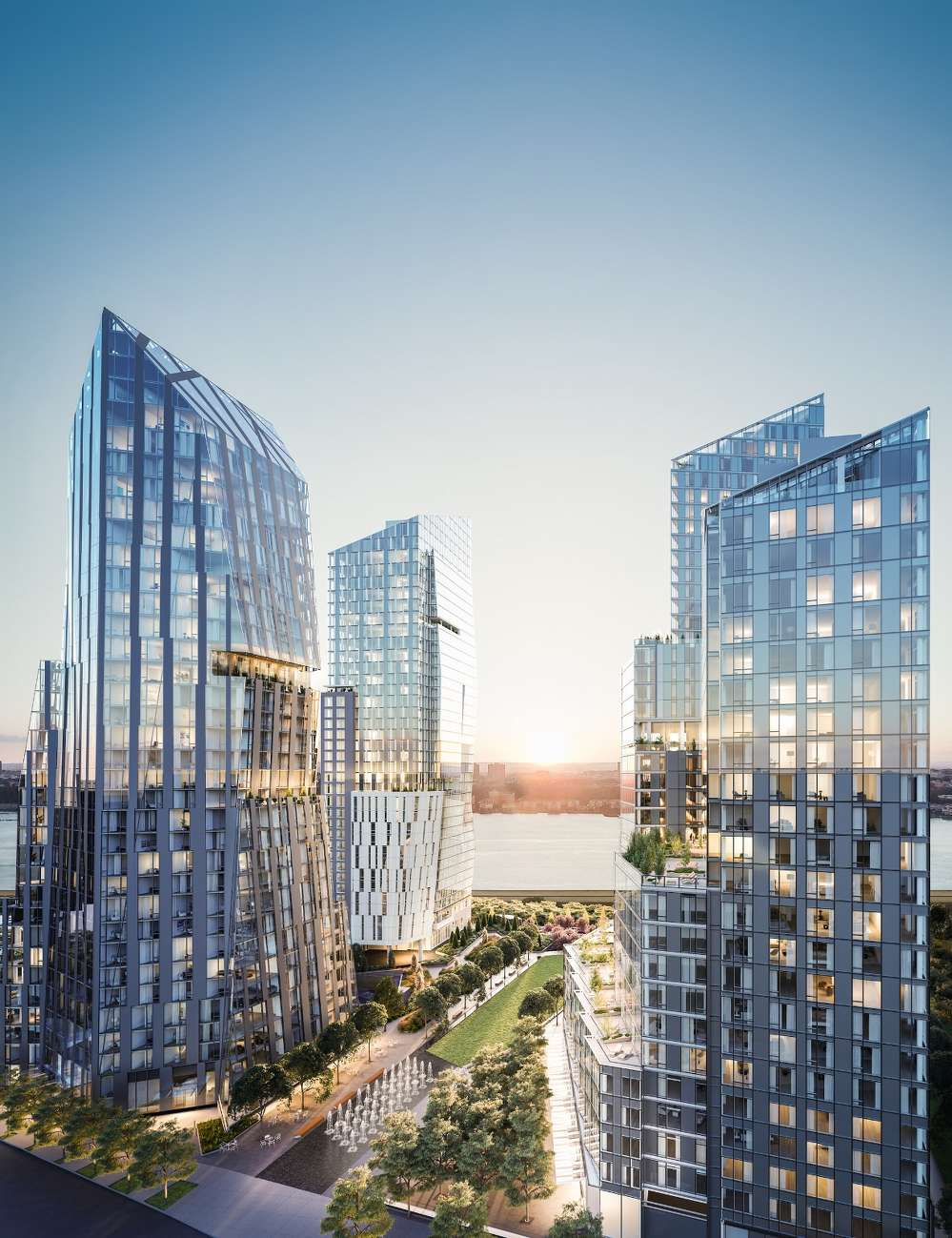 Waterline Square encompasses nearly five acres and will be located in Manhattan along the Hudson River from West 59th Street to West 61st Street, where Midtown meets the Upper West Side.