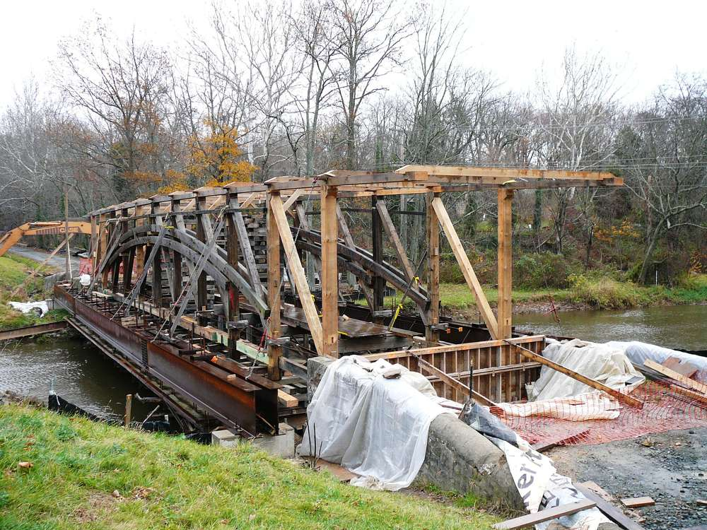 The Gilpin's Falls bridge was one of five authentic covered bridges worked on by Kinsley in the past 35 years.