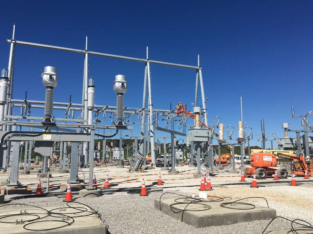 FirstEnergy Corp. photo FirstEnergy is constructing a new transmission substation in West Penn Power's service area in Washington County near Burgettstown, Pa.