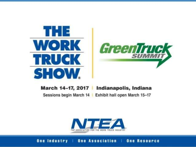 Produced by NTEA – The Association for the Work Truck Industry, the Green Truck Summit takes place at the Indiana Convention Center in Indianapolis, Indiana.