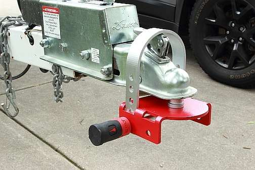 Made of hardened steel for extra security, the Off-Vehicle Coupler Lock works with 1 7/8-inch, 2-inch and 2 15/16-inch couplers to keep a variety of trailers secure while unattended.