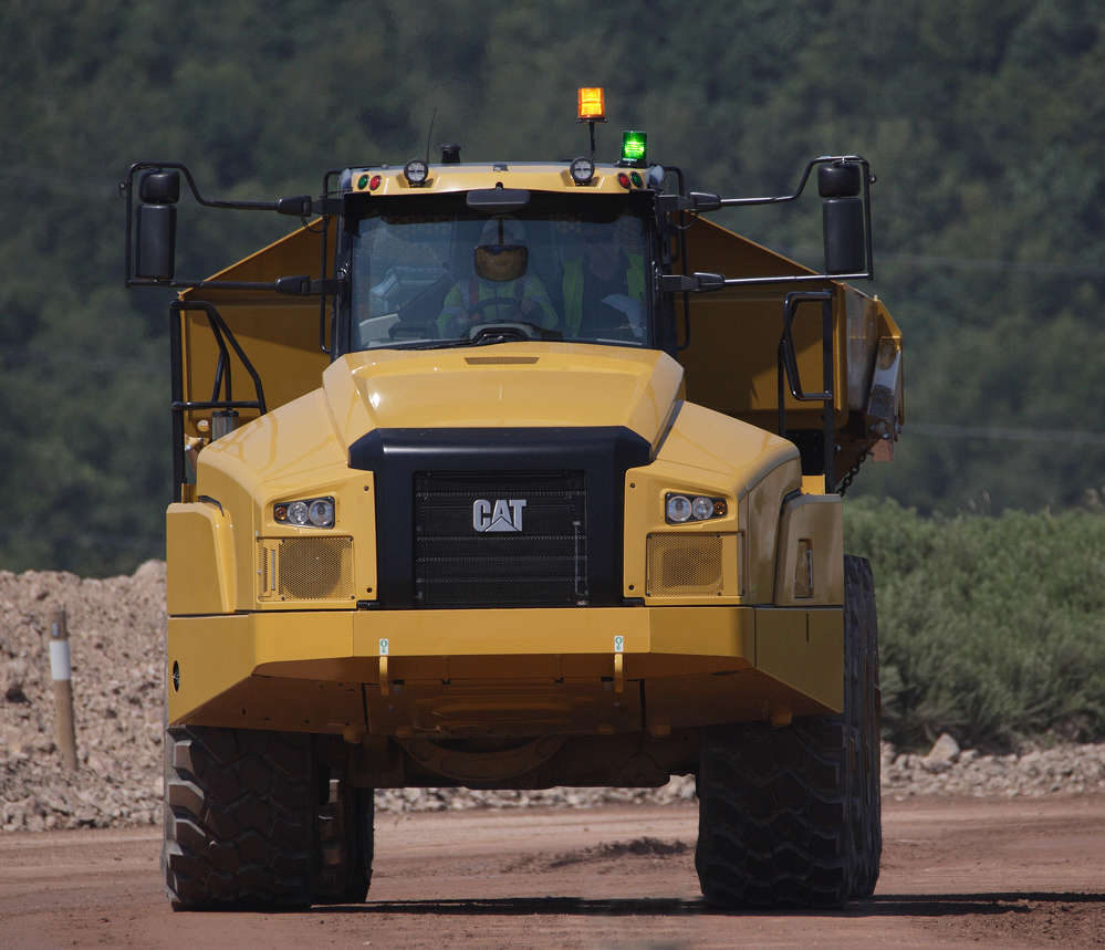 The new 745 Articulated Truck features an all new, class leading cab with enhanced visibility.