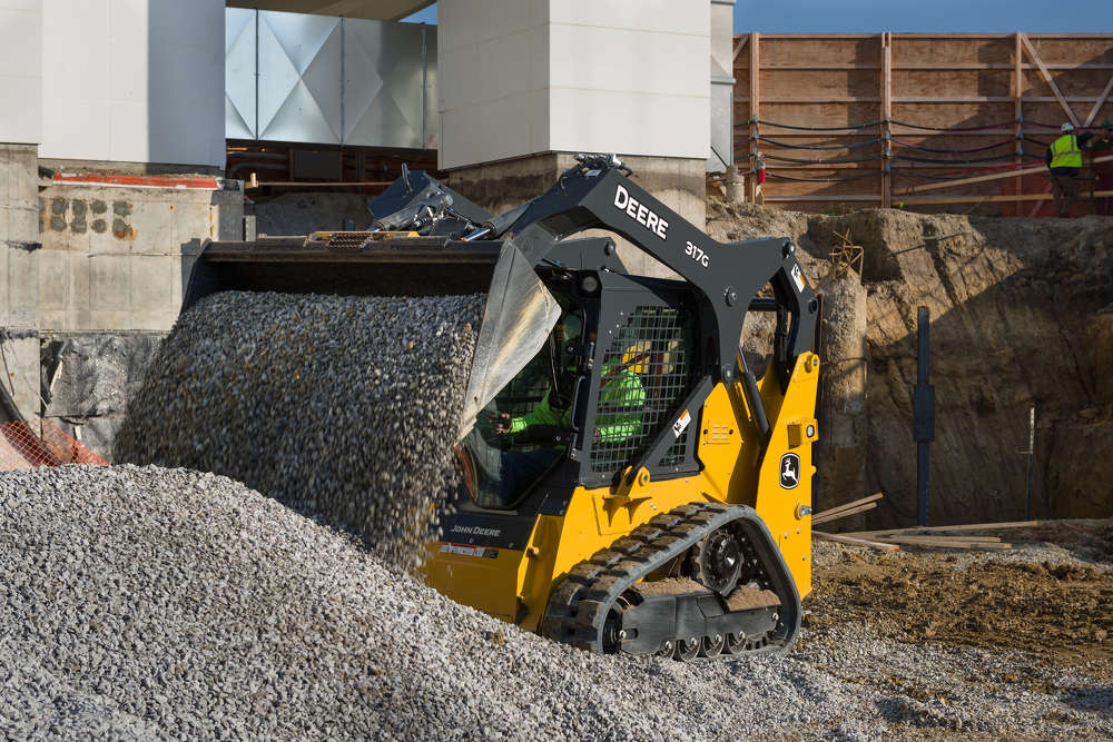 John Deere is introducing four Final Tier IV G-Series skid steers (312GR, 314G, 316GR, 318G) and one compact track loader (317G). These new machines were designed to level the playing field for today's rental, ag material handling, construction and landscape customers.
