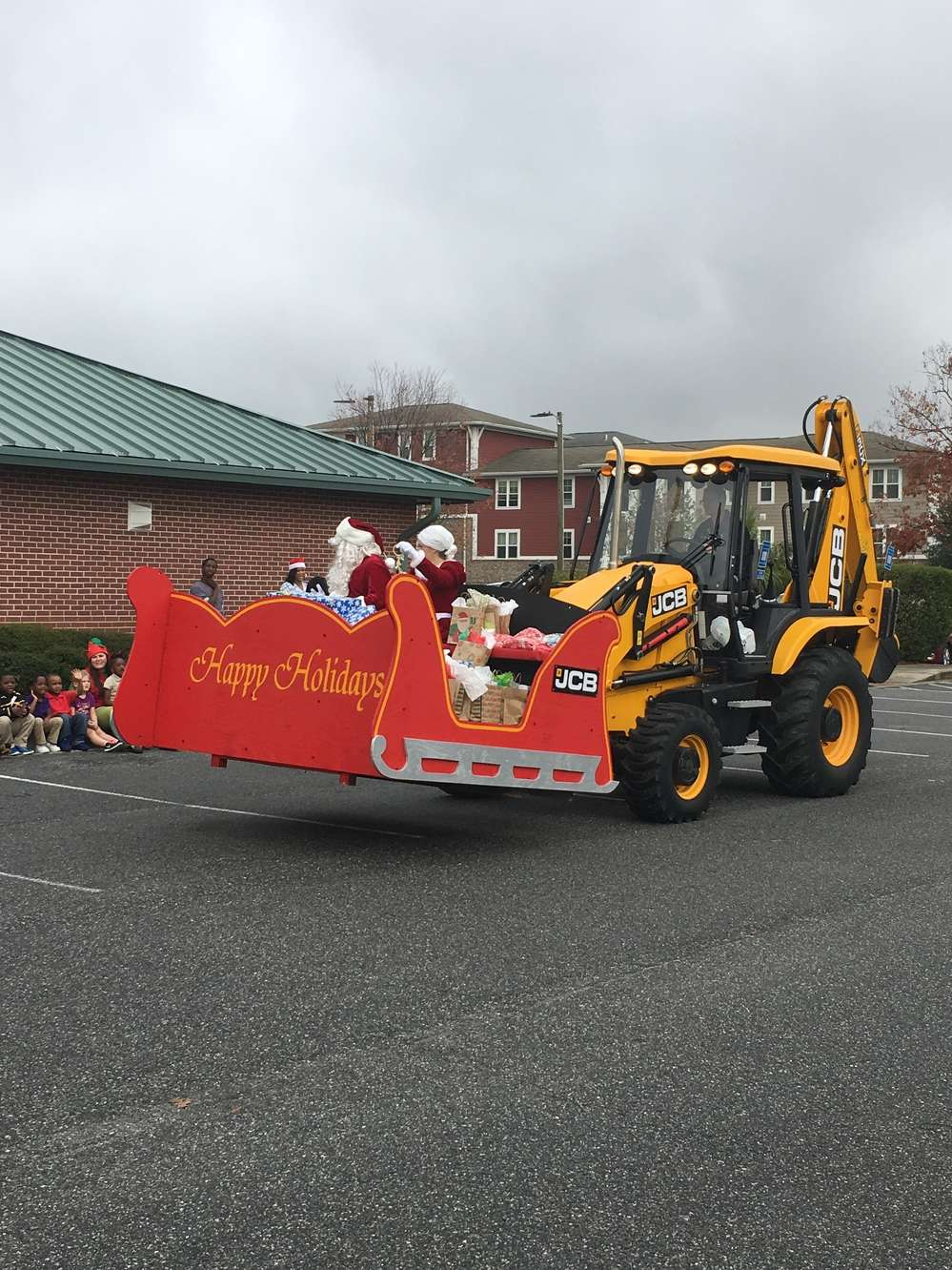 Sleigh with 3CX backhoe.