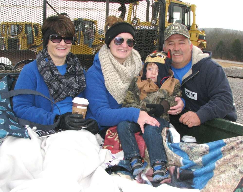 (L-R): Candy Krantz, Heather and Carter Nicholson and Chris Krantz of T&C Excavating, Chapmansboro, Tenn., attend the sale.