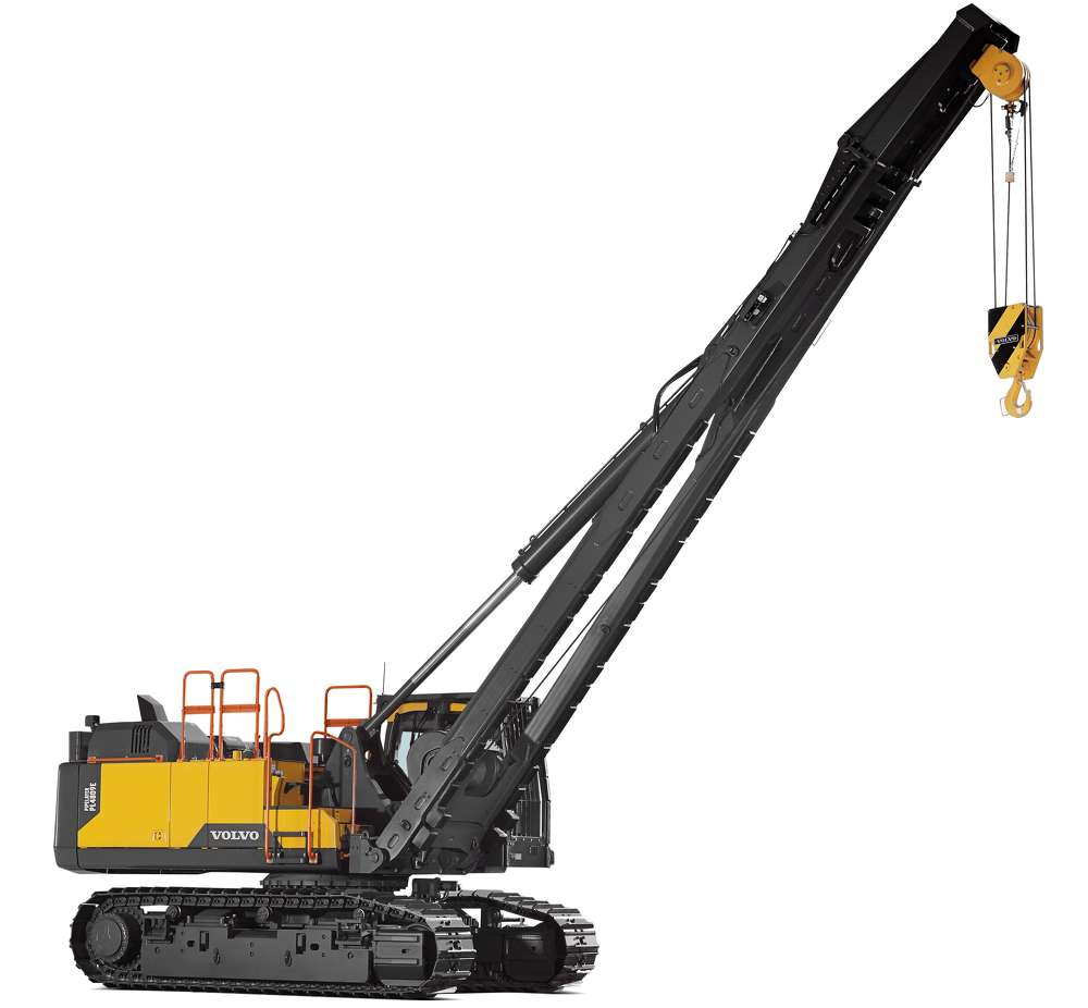 The hydraulically elevated, ROPS-certified cab provides a commanding view of the job site and trench.
