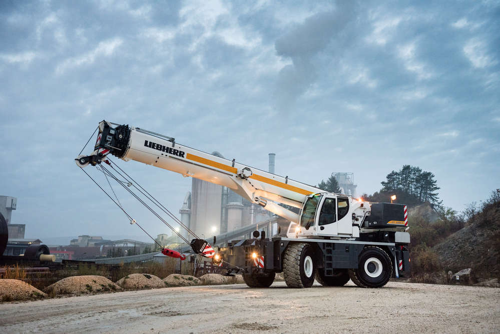 World premiere in Las Vegas: The new Liebherr rough-terrain cranes are designed for high capacity and safety.