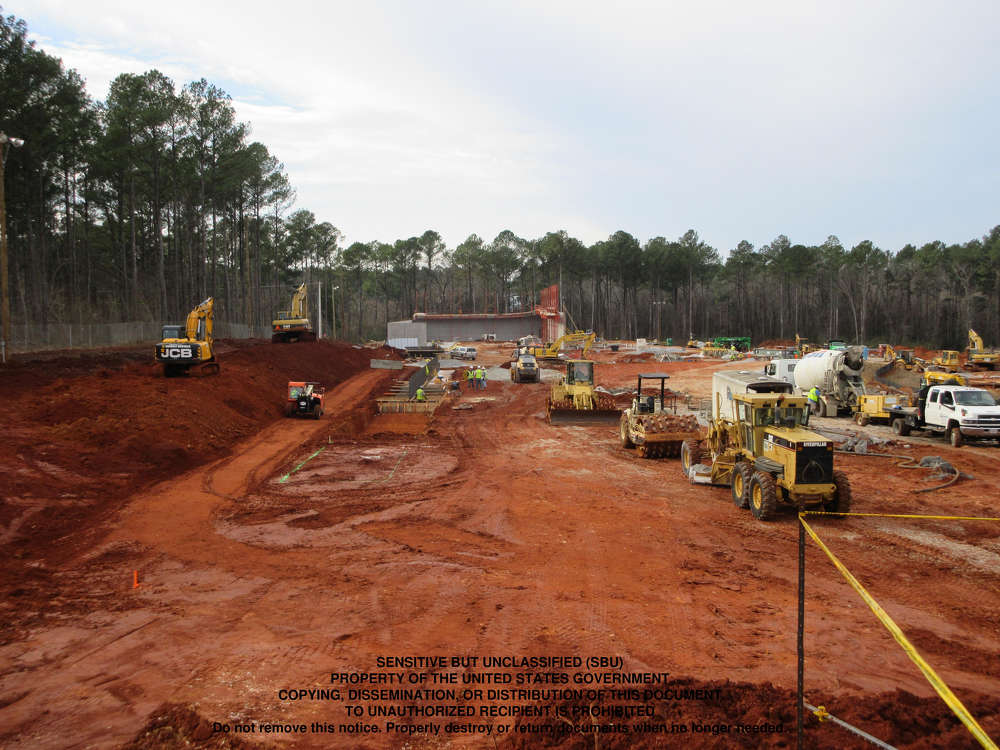 Construction efforts continue at the Redstone Arsenal in Huntsville, Ala., on Phase III of the Terrorist Explosive Device Analytical Center (TEDAC).
