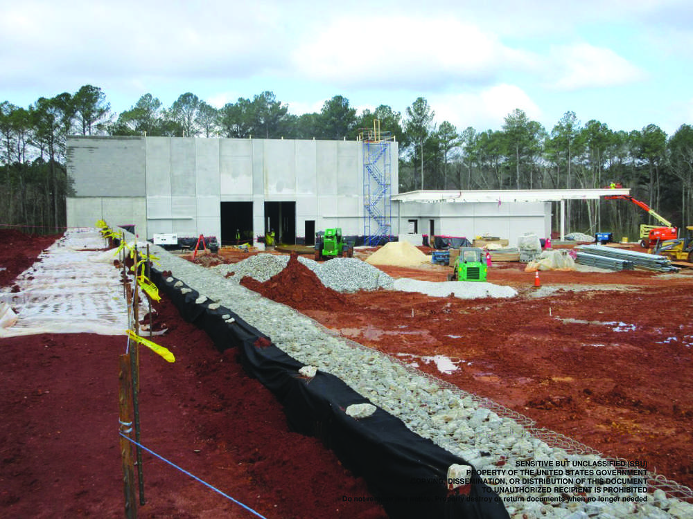 Wade Wooley, P.E., area engineer, North Regional Area Office, U.S. Army Corps of Engineers, said every effort is being made to meet an aggressive construction schedule.