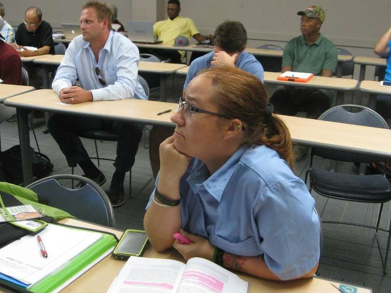 Kristy Graf, a single mom with three kids, is taking North Lake's construction management program to earn an associate's degree, and a chance at a higher salary.