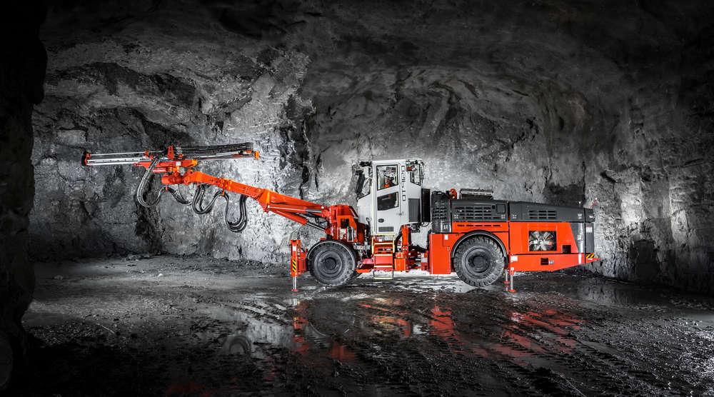Sandvik DT912D underground drilling rig.