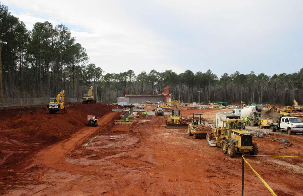 Turner Construction photo. Construction efforts continue at the Redstone Arsenal in Huntsville, Ala., on Phase III of the Terrorist Explosive Device Analytical Center (TEDAC).