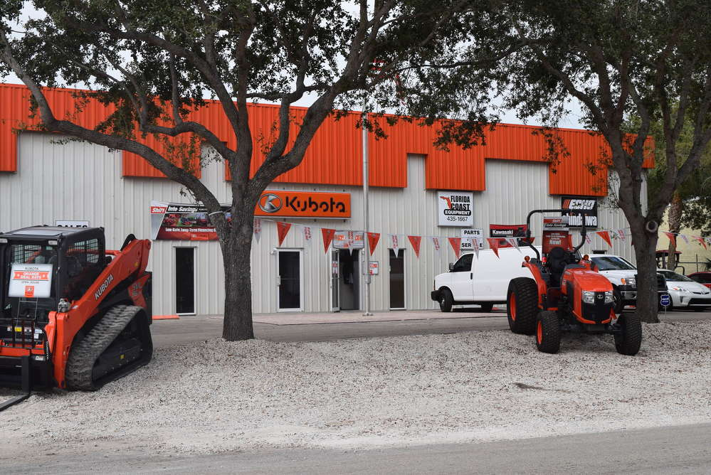 The Naples Kubota location is located at 694 Commercial Blvd., Naples, Fla. 34104.