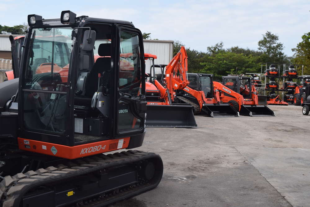 Attendees had the opportunity to test the Kubota equipment on display.
