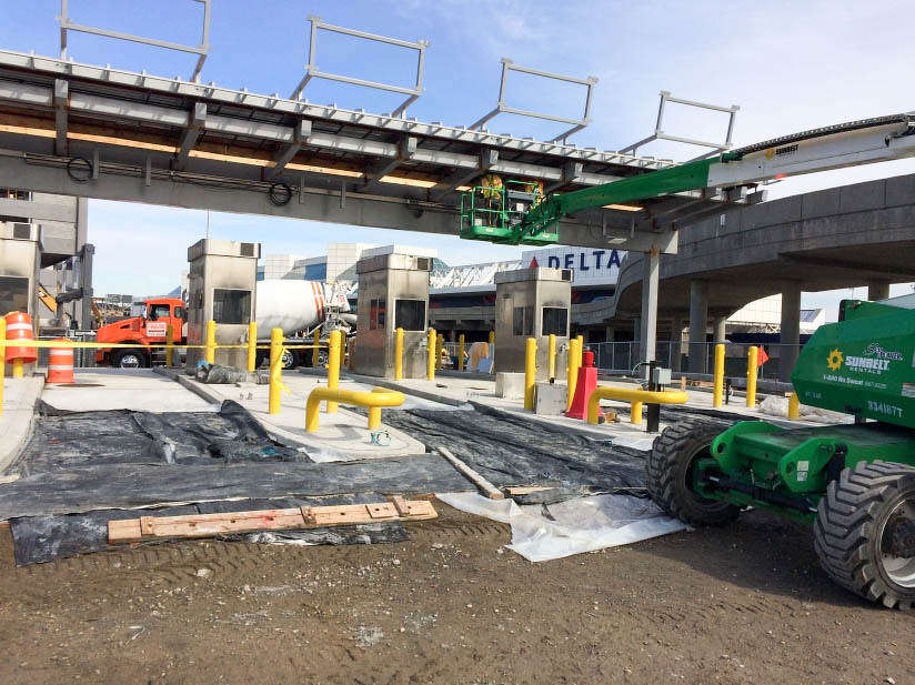 Construction of Toll Plazas 4 and 5, now open.