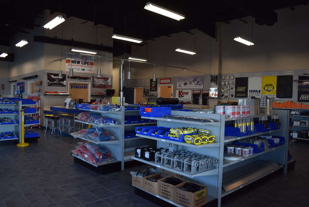 The new 27,000 sq. ft. building is situated on 25 acres and features a retail parts store.