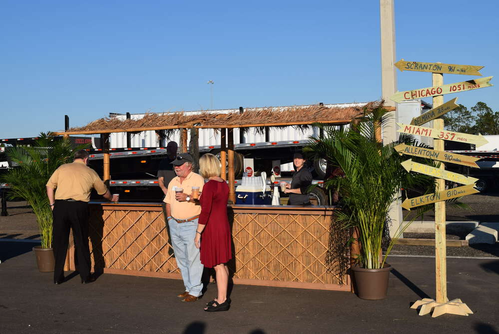 The tiki bar was a hit at the Hale Trailer open house.
