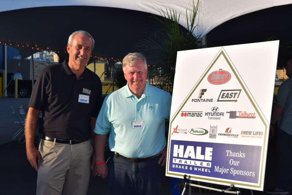 Tom Weaver (L), general manager of the Jacksonville branch, and Barry Hale, founder and president of Hale Trailer.