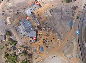 Image collected by drone of hospital project in Apopka, Florida.