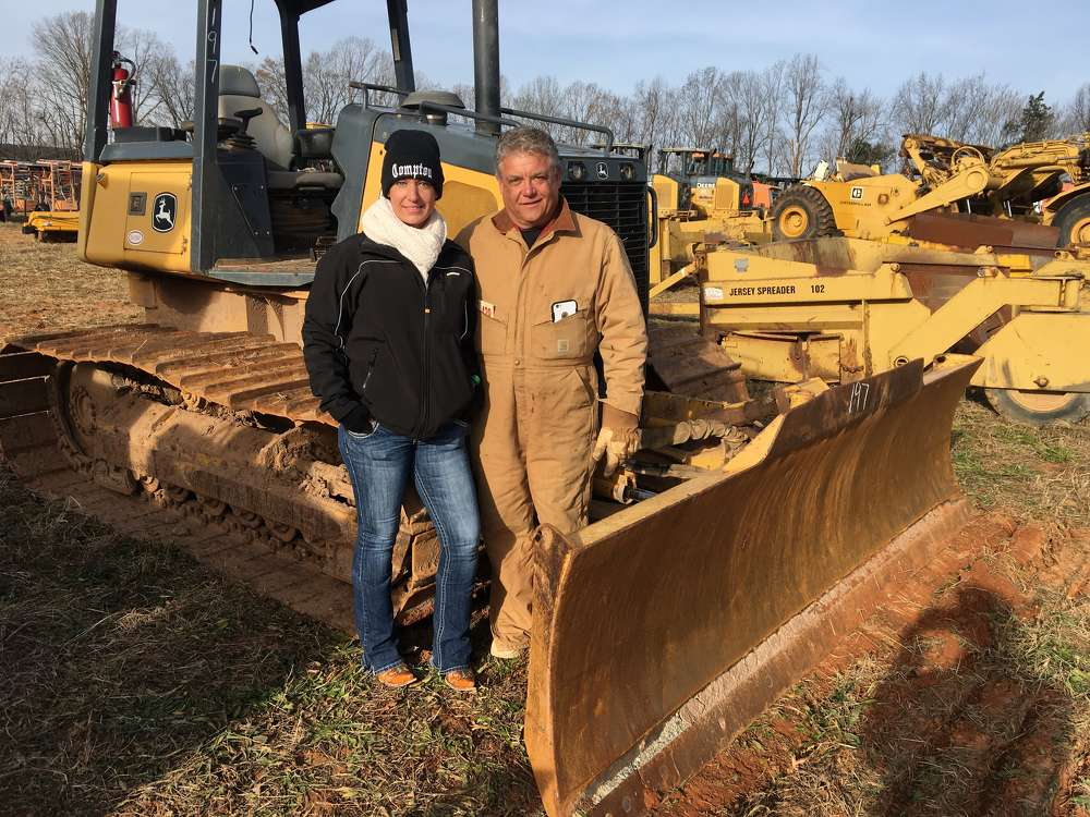 Lisa and JD Compton, both of www.JDDeals.com in Blairs, Va., plan to bid on this John Deere dozer.
