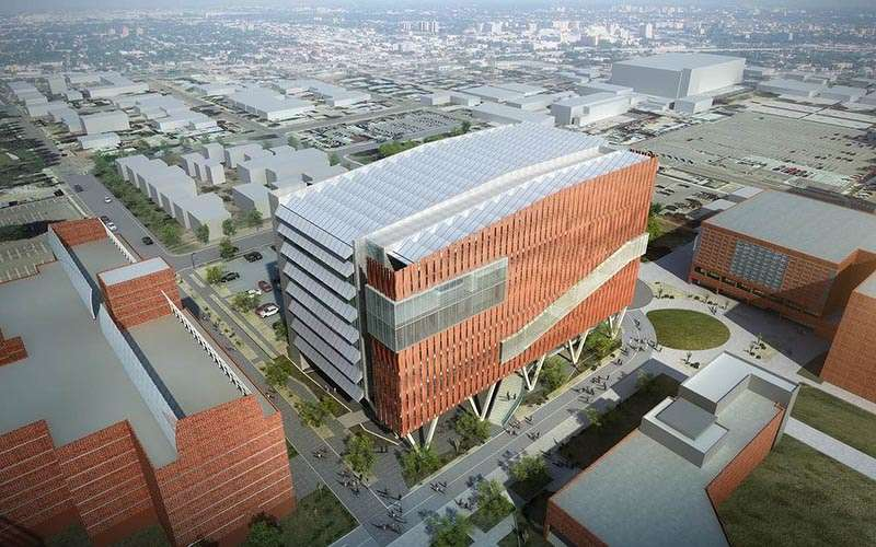 Fast-track design and construction are proceeding on a $165 million health sciences training building on the University of Arizona Health Sciences campus in Tucson.