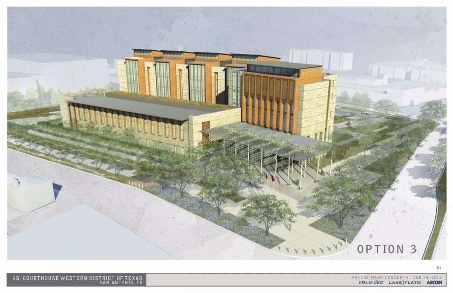 The new federal courthouse will provide the Judiciary with a newly constructed 305,000 gross sq. ft. (28,335 sq m) facility.via http://url.ie/11ngb