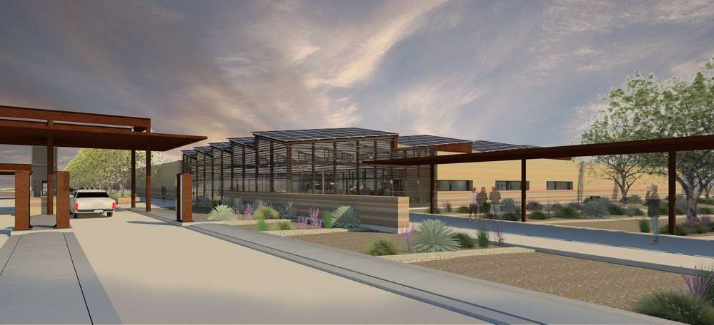 The new port facilities will be larger and more efficient while also addressing flooding issues through site improvements to control storm water flow. ichter Architects photo