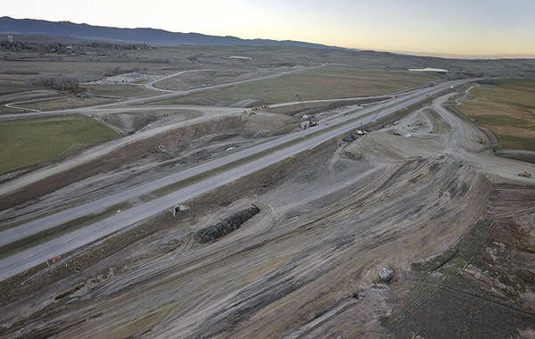 Phase 1 of the North Sheridan Interchange Project consists of grading operations and dirt work for the new interchange ramps and new interchange bridge. http://www.dot.state.wy.us