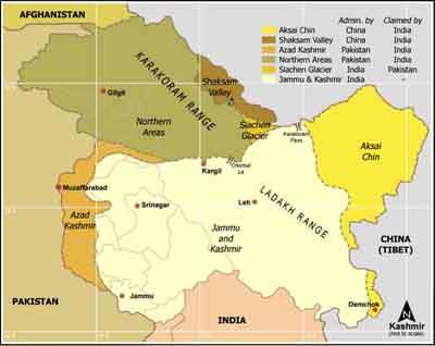 Map of Jammu and Kashmir. http://url.ie/11nhy