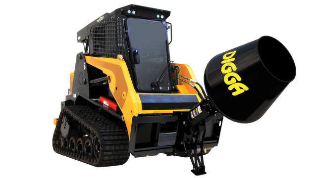 Digga's cement mixer will attach quickly and easily to Digga's current line of auger drives and is capable of attaching to skid steer loaders, front-end loaders and telehandlers.