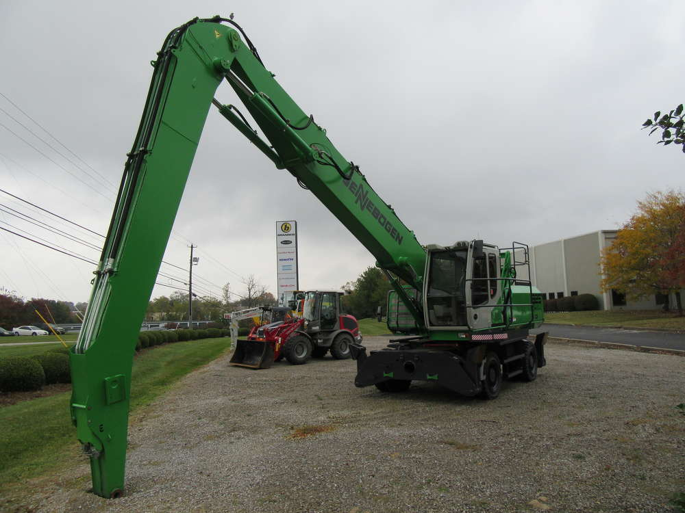 This Sennebogen 825 mobile material handler has been remanufactured and is ready to go back into service.