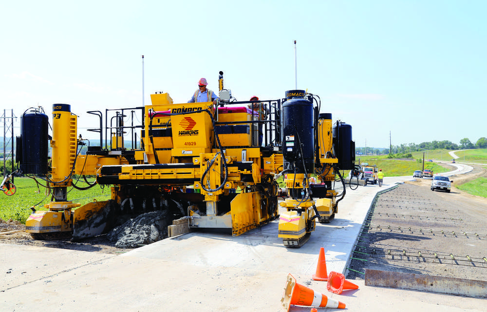 Kelly Krueger photo The GP3 can pave 4 ft. (1.2 m) wide in an urban area and then can go to 26 ft. (7.9 m) wide with no frame extensions to put in or take out.