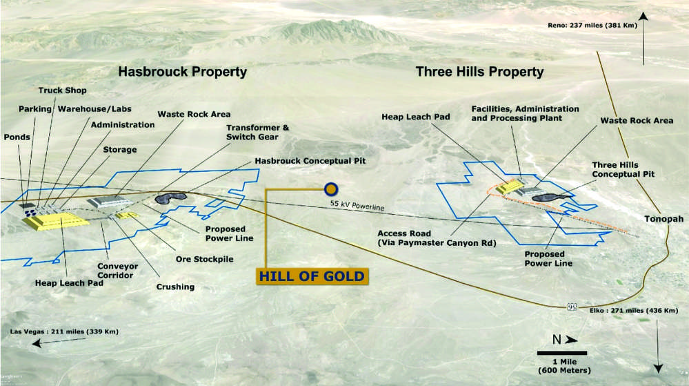 Map of West Kirkland mining prospects.
